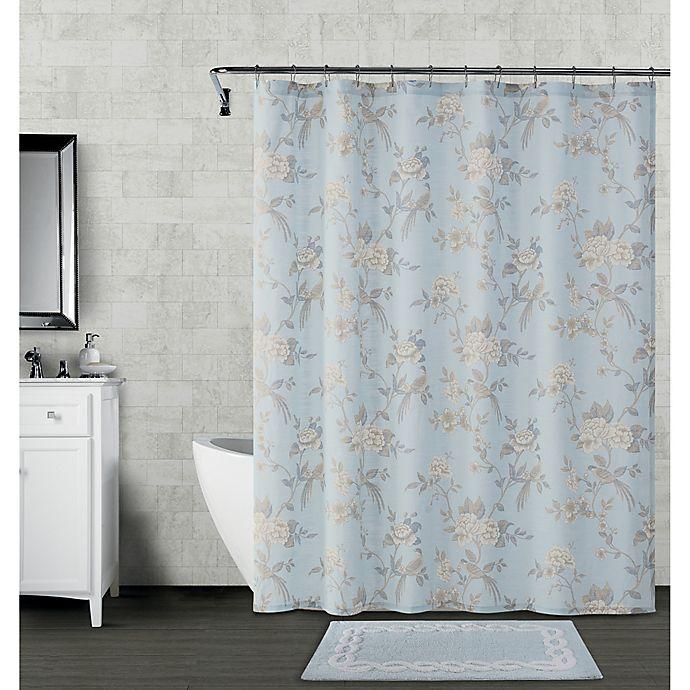 Alternate image 1 for Wamsutta® Margate 72-Inch x 72-Inch Shower Curtain in Illusion Blue