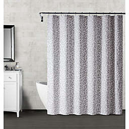 Wamsutta® Montville 54-Inch x 78-Inch Shower Curtain in Grey/Violet