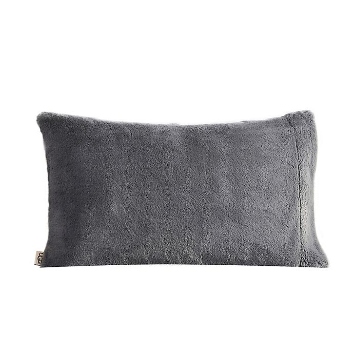Alternate image 1 for UGG® Polar Faux Fur Standard/Queen Pillowcase in Charcoal