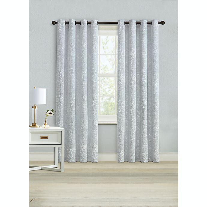 Alternate image 1 for Wamsutta® Montville 95-Inch Grommet Light Filtering Window Curtain Panel in Celestial Blue