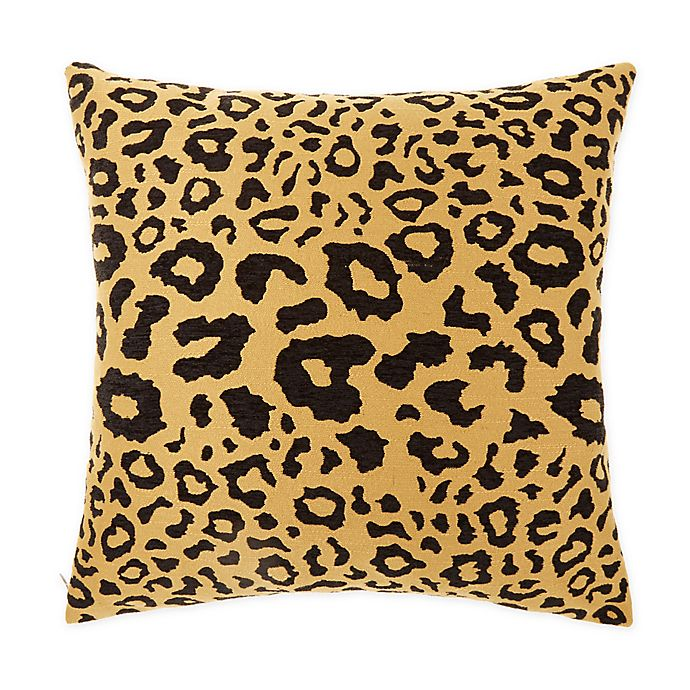 Alternate image 1 for Wamsutta® Leopard Square Throw Pillow in Black/Gold