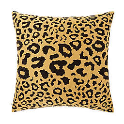 Wamsutta® Leopard Square Throw Pillow in Black/Gold