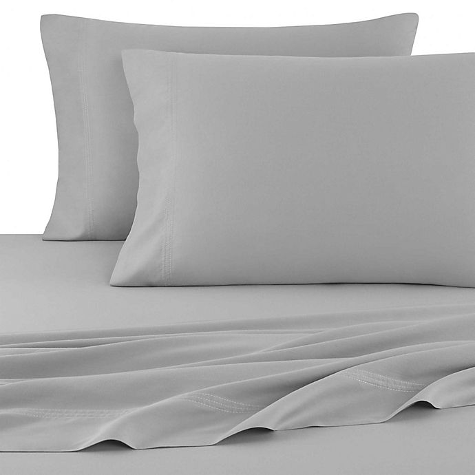 Alternate image 1 for UGG® Surfwashed Cotton Garment Washed Standard/Queen Pillowcases in Charcoal (Set of 2)