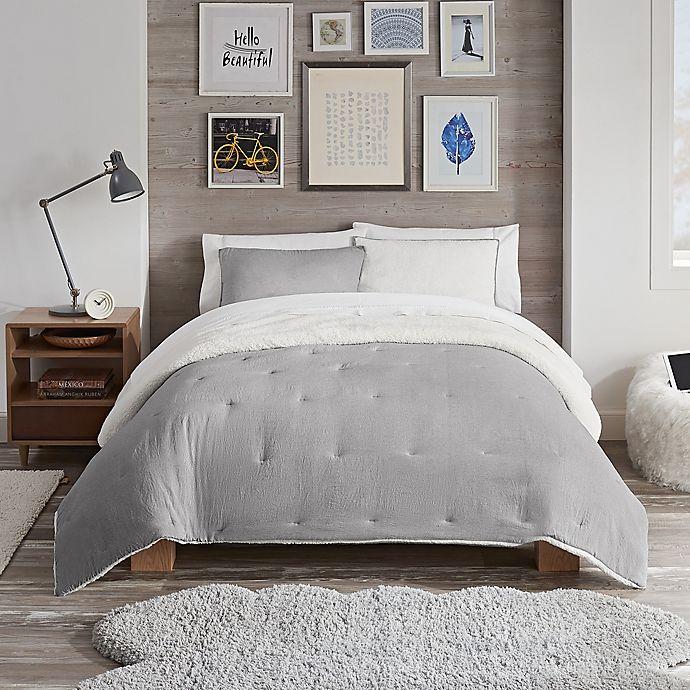 Alternate image 1 for UGG® Devon Faux Sherpa 3-Piece Reversible Comforter Set