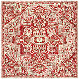 Safavieh Beach House 6'7 x 6'7 Weirs Indoor/Outdoor Area Rug in Red