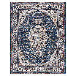 Bee & Willow™ Home Ashbrook 9' x 12' Area Rug in Navy/Ivory