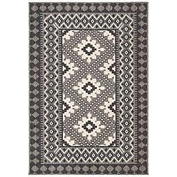 Safavieh Veranda Ronin 6'7 x 9'6 Indoor/Outdoor Area Rug in Charcoal