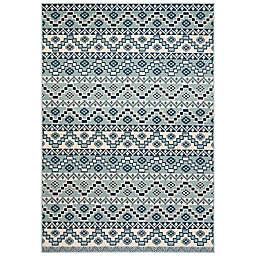Safavieh Veranda Tucker 4' x 5'7 Indoor/Outdoor Area Rug in Turquoise