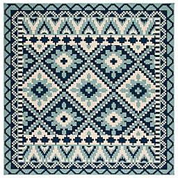 Safavieh Veranda Ross 6'7 Square Indoor/Outdoor Area Rug in Turquoise