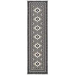Safavieh Veranda Ronin 2'3 x 14' Indoor/Outdoor Runner in Charcoal