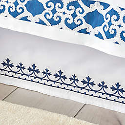 Dena™ Atelier Indigo Dream Bed Skirt in White/Indigo