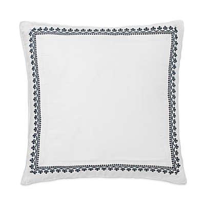 Dena™ Atelier Indigo Dream European Pillow Sham in White/Indigo