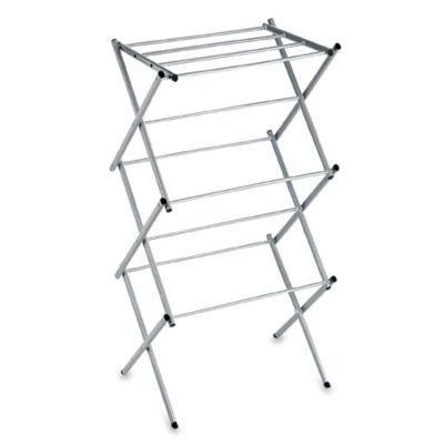 Polder 174 Compact Accordion Dryer Rack In Drizzle Bed Bath