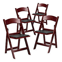 Flash Furniture Hercules Resin Folding Chairs (Set of 4)