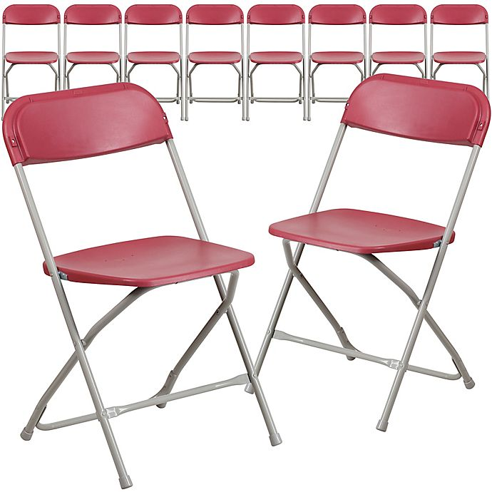 Alternate image 1 for Flash Furniture Plastic Folding Chairs (Set of 10)