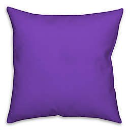 Solid Color Square Throw Pillow in Purple