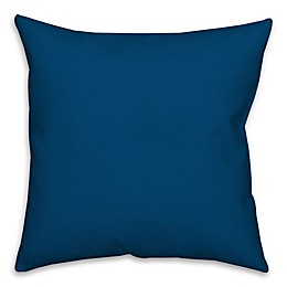 Solid Color Square Throw Pillow