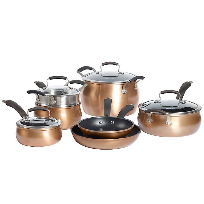 Alternate image 1 for Epicurious Aluminum Nonstick 11-Piece Cookware Set in Copper