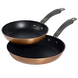 Epicurious Aluminum Nonstick 2-Piece Fry Pan Set in Copper