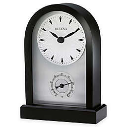 Bulova Madison Desk Clock in Black