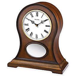 Bulova Brookfield Mantel Clock in Brown Cherry