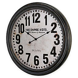 Bulova Hotelier Wall Clock in Weathered Black