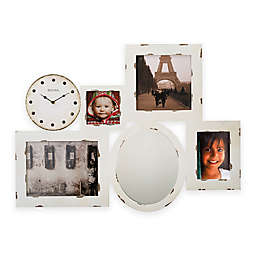 Bulova Picture Gallery Wall Clock in White