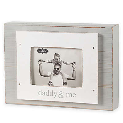 "Mud Pie ""Daddy & Me"" 3-Inch x 4-Inch Wood Block Photo Frame"