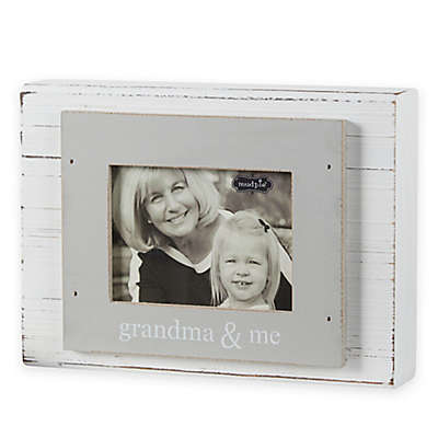 "Mud Pie ""Grandma & Me"" 3-Inch x 4-Inch Wood Block Photo Frame"