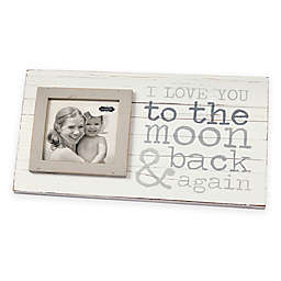 """Mud Pie """"To the Moon"""" 4-Inch x 4-Inch Wood Picture Frame"""