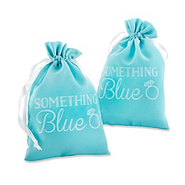 "Kate Aspen® 12-Piece ""Something Blue"" Muslin Favor Bag"