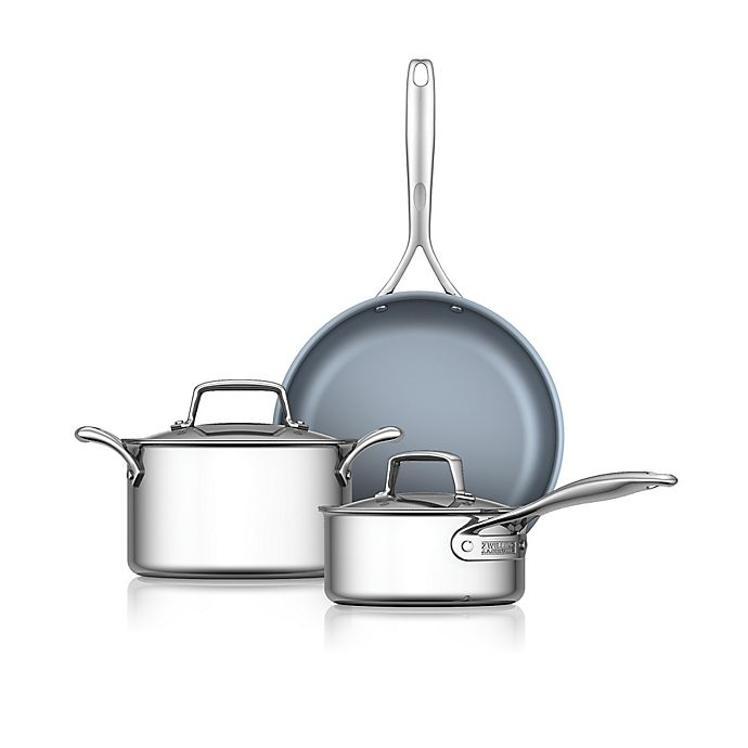 Alternate image 1 for Zwilling J.A. Henckels Energy Nonstick Stainless Steel 5-Piece Cookware Set