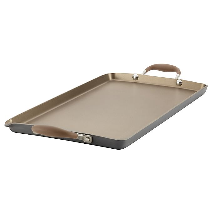 Alternate image 1 for Anolon® Advanced Umber 18-inch x 10-Inch Double Burner Griddle