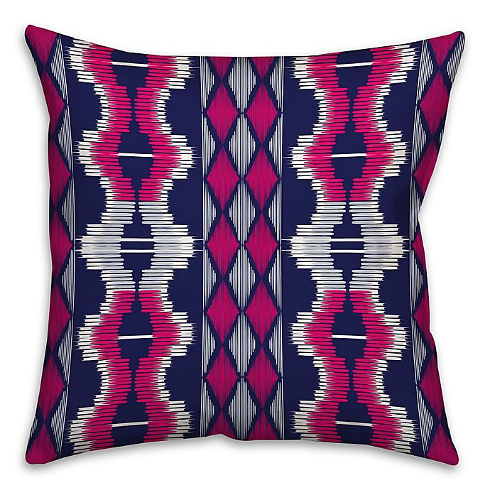Alternate image 1 for Boho Tribal Square Throw Pillow in Purple/Pink