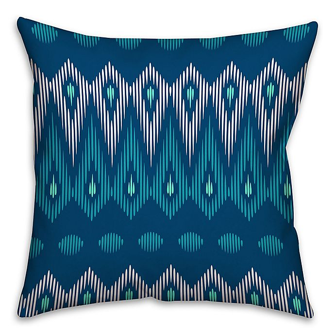Alternate image 1 for Indie Tribal Square Throw Pillow in Blue
