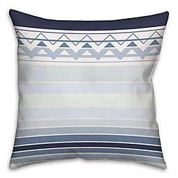 Sea Level Gradient Chevron Square Throw Pillow in Blue/White
