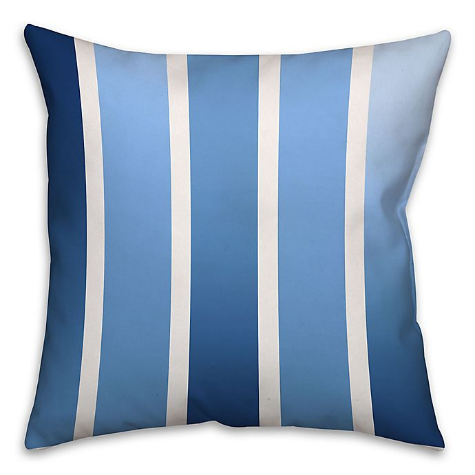 Alternate image 1 for Spectrum Stripes Throw Pillow in Navy