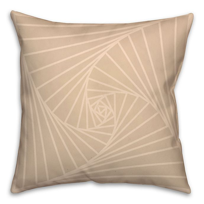 Alternate image 1 for Zen Spiral Square Throw Pillow in Cream/White
