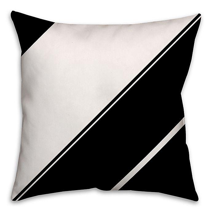 Alternate image 1 for Angled Stripes Throw Pillow in Black/White