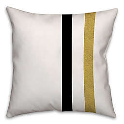 Retro Color Block Stripes Square Throw Pillow