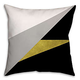 Gold Embellished Block Square Throw Pillow