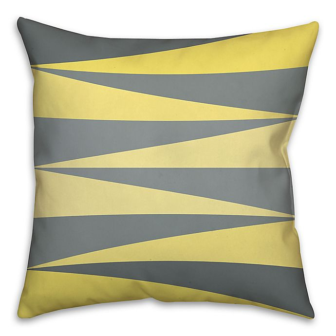 Alternate image 1 for Checkered Angles Square Throw Pillow in Grey/Multi