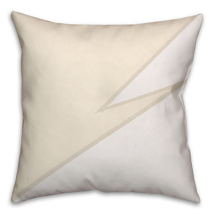 Alternate image 1 for Zigzag Color Block Square Throw Pillow in Ivory