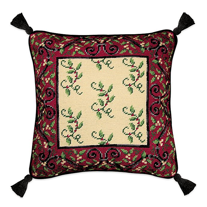 Alternate image 1 for Holiday Garden Square Throw Pillow