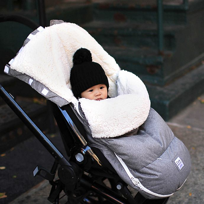 Alternate image 1 for 7AM Enfant Size 18M-3T LambPOD Stroller & Car Seat Footmuff with Fleece Lining in Heather Grey