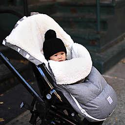 7AM Enfant Size 18M-3T LambPOD Stroller & Car Seat Footmuff with Fleece Lining in Heather Grey