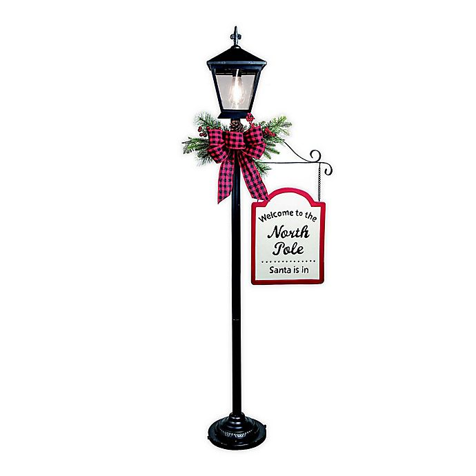 Alternate image 1 for Holiday Lamp Post in Black