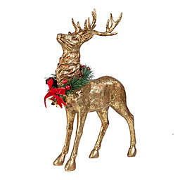 Decorative Standing Christmas Reindeer in Gold