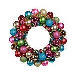 18-Inch Holiday Ornament Wreath in Multi