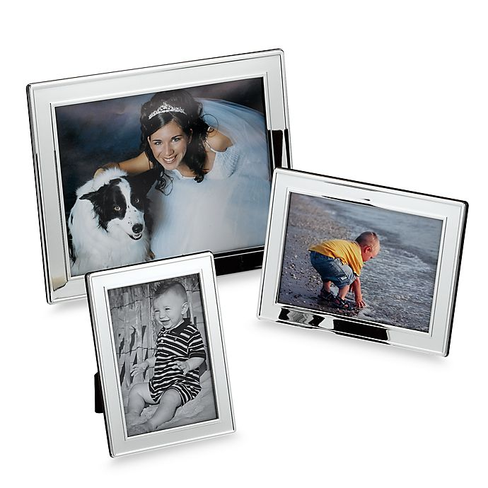 Alternate image 1 for Plain Border Silver Picture Frames